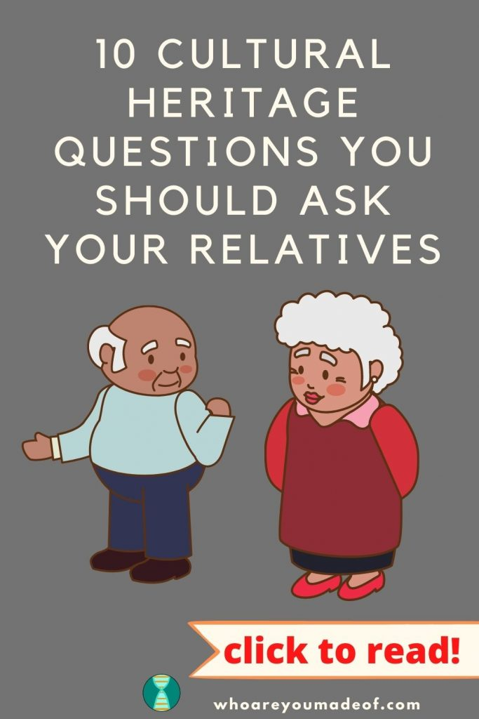 10 Cultural Heritage Questions You Should Ask Your Relatives