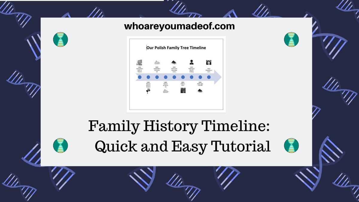 Family History Timeline Quick and Easy Tutorial