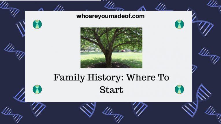 Family History Where To Start