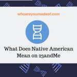 What Does Native American Mean on 23andMe