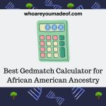 Best Gedmatch Calculator for African American Ancestry