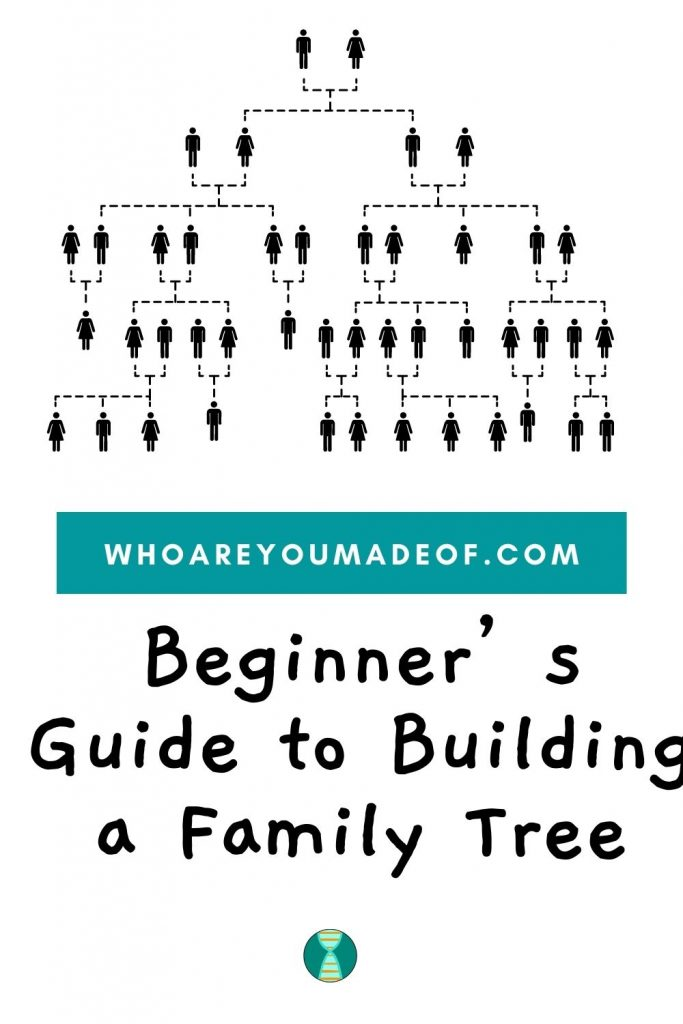 Beginner's Guide to Building a Family Tree Pinterest Image with Pedigree