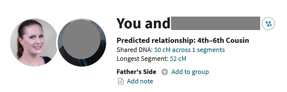 An example of Ancestry DNA matches sharing more total DNA than the size of the longest segment
