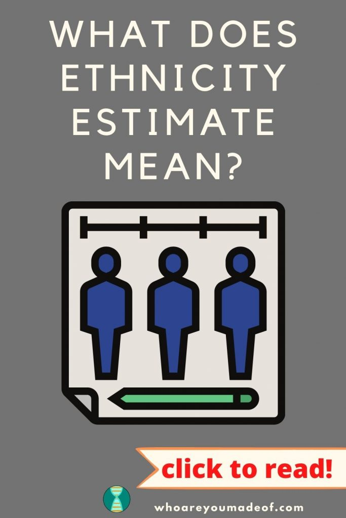 What is an Ethnicity Estimate Pinterest Image with graphic of people and a pencil on a piece of paper