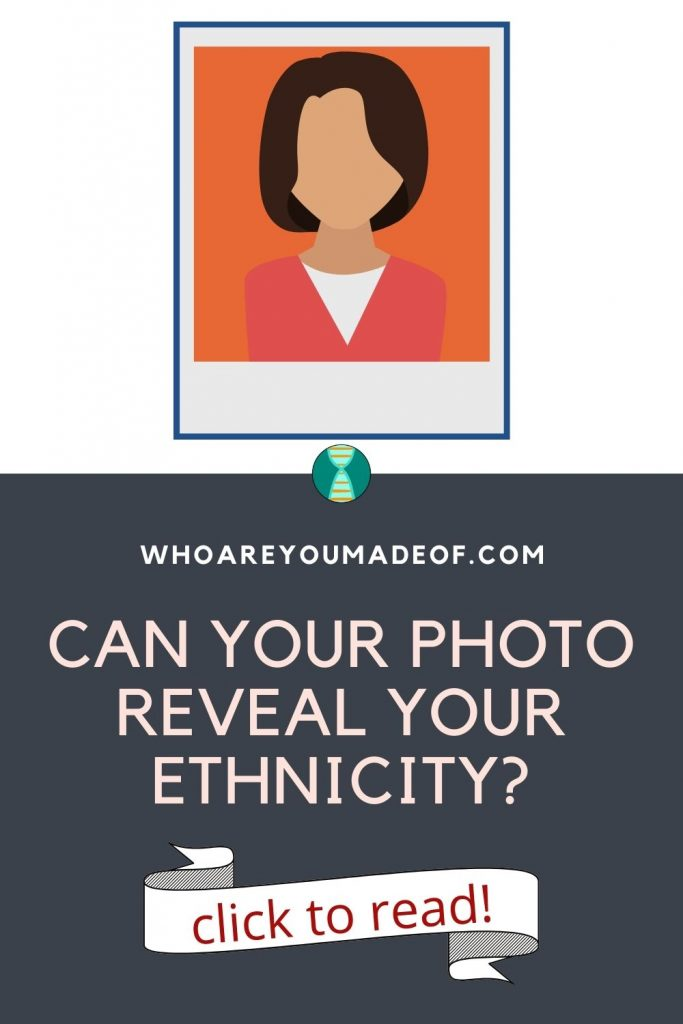 can your photo reveal your ethnicity pinterest image with a polaroid graphic