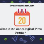 What is the Genealogical Time Frame