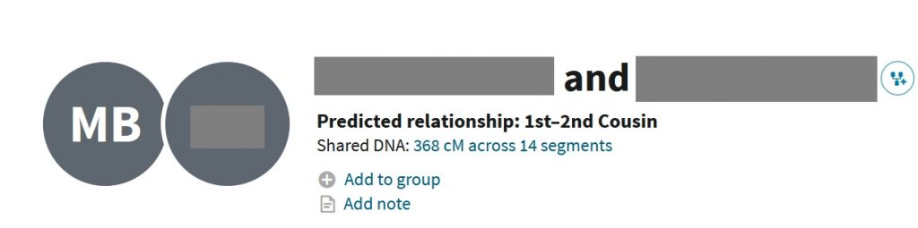 """This image shows where to click on Ancestry DNA match to find the unweighted DNA information, as well as other shared DNA details.  It it a link right next to the words """"Shared DNA"""" located on the DNA match profile"""