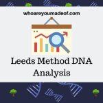 Leeds Method DNA Analysis