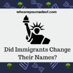 did Immigrants change their names featured image with statue of liberty graphic