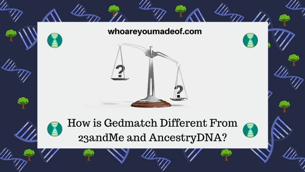 How is Gedmatch Different From 23andMe and AncestryDNA(1)
