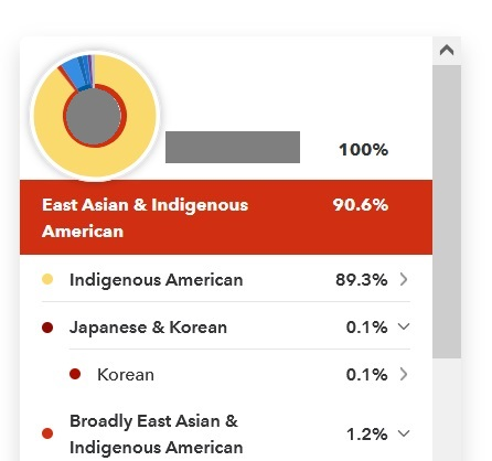 example of native american results on 23andme