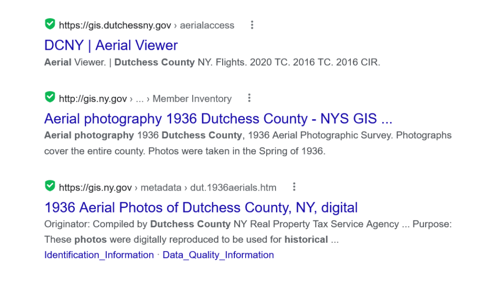 search results for historic aerial images for dutchess county new york